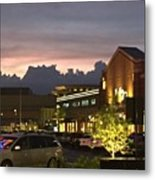 Evening At The Mall Metal Print