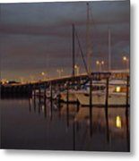 Evening At The Twin Dolphin Marina Metal Print by Kimberly Camacho