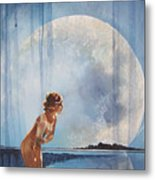 Evening Bath Metal Print