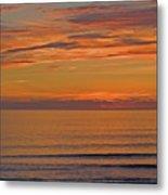 Evening Beach Walk Metal Print