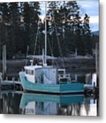 Evening Boat Metal Print