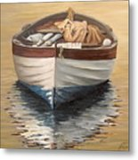 Evening Boat Metal Print