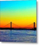 Evening Bridge Metal Print