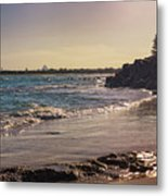 Evening By The Beach Metal Print
