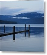 Tranquil Blue Priest Lake Metal Print