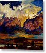 Evening Clouds Over The Valley Metal Print