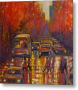Evening Drizzle Metal Print