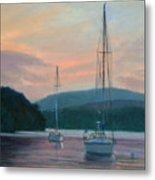 Evening Glow Hudson River Metal Print