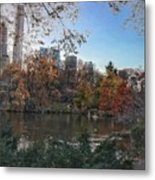 Evening In Central Park Metal Print