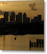 Evening In Tampa Metal Print
