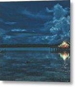 Evening In The Lagoon Metal Print