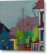 Evening In Town Chelmsford Ma Metal Print
