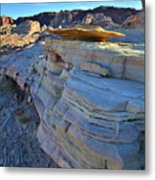 Evening In Valley Of Fire State Park Metal Print