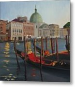Evening In Venice Metal Print