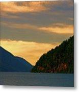 Evening Light At Lake Crescent Metal Print