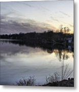 Evening Light On Lake Champlain Metal Print