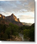 Evening Light On Watchman Metal Print