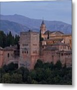 Evening Lights At The Alhambra Metal Print