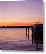 Evening Of Peace - Jersey Shore Metal Print