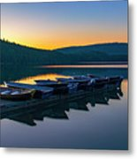 Evening On Lake Mcdonald Metal Print