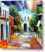 Evening On Orleans Street Metal Print