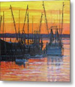 Evening On Shem Creek Metal Print