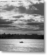 Evening On South River - Bw Metal Print