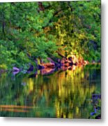 Evening On The Humber River - Paint Metal Print