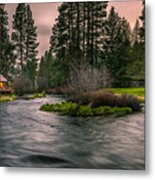 Evening On The Metolius Metal Print