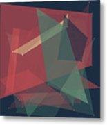 Evening Polygon Pattern Metal Print