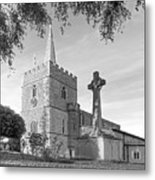 Evening Prayers In Black And White Metal Print
