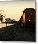 Evening Ride Metal Print