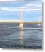 Evening Sail In Frenchman's Bay Metal Print