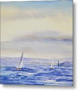 Evening Sail On Little Narragansett Bay Metal Print