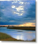 Evening Sky Over Hatches Harbor, Provincetown Metal Print