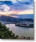 Evening Sky Over Rio De Janeiro Metal Print