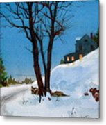 Evening Snow Metal Print