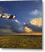 Evening Spitfire Metal Print by Meirion Matthias