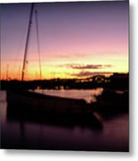 Evening Sun On Harbour Metal Print