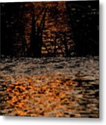 Evening Sun On Small River Metal Print