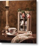 Evening Tea Still Life Metal Print