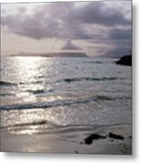 Evening The Isle Of Eigg  Inner Hebrides From The Beach At Arisaig Scotland Metal Print