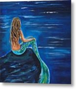 Evening Tide Mermaid Metal Print