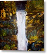 Evening Waterfall Metal Print