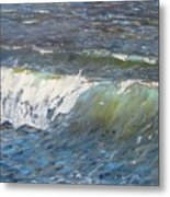 Evening Wave Metal Print