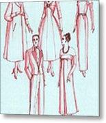 Evening Wear, 1956 Metal Print