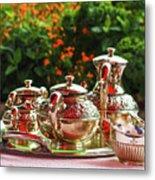 Event - Tea Garden Party Silver Sevice Metal Print