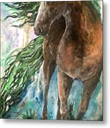 Ever Green  Earth Horse Metal Print