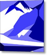 Everest Blue Metal Print