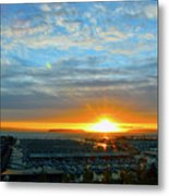 Everett Marina Sunset Metal Print